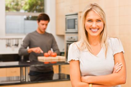 Happy Lady in a kitchen